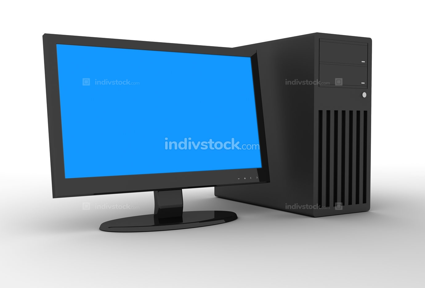 Desktop PC 3d rendered image