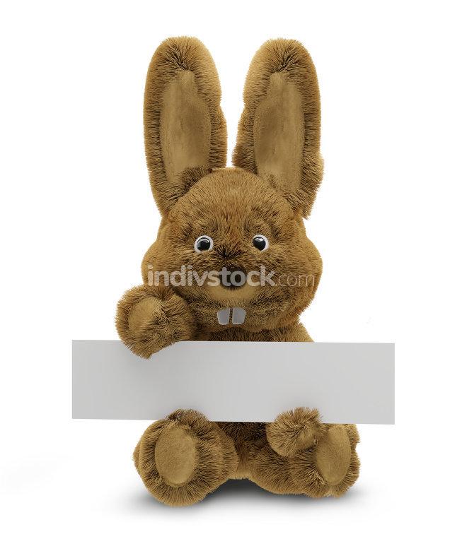 Easter bunny 3d rendering