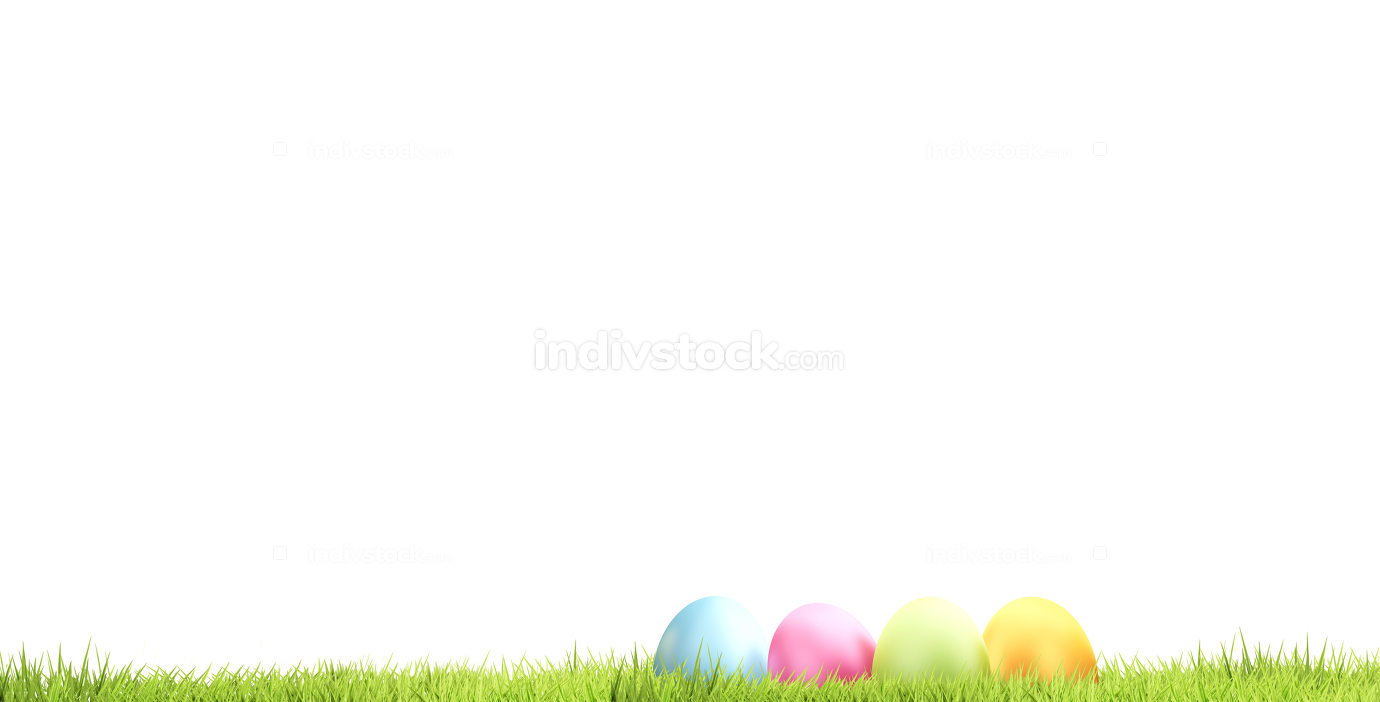 Easter eggs 3d rendering