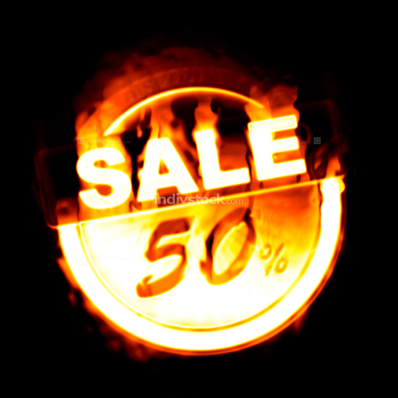 fire sale 50% illustration