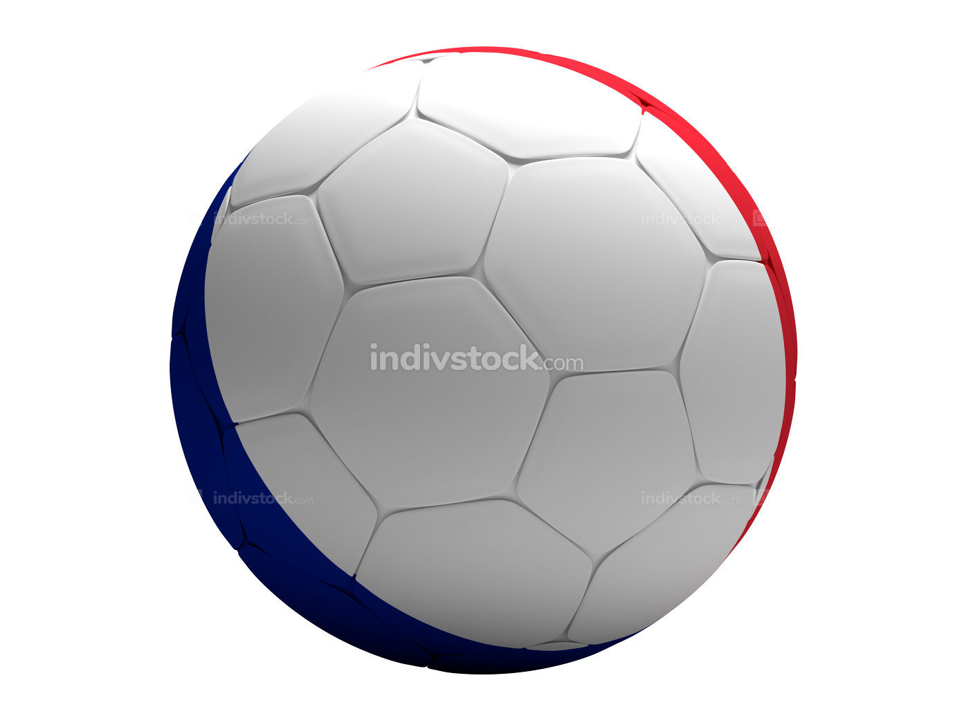 France french soccer football ball 3D Rendering