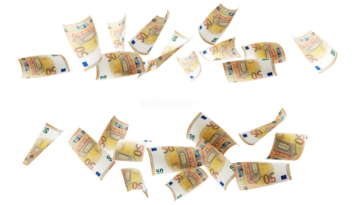 free download: 50 euro banknotes 3d-illustration