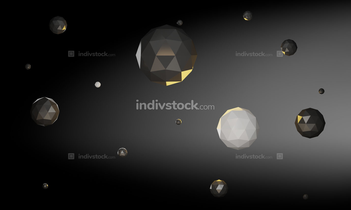free download: abstract ico sphere crystal 3d rendering magic universe design