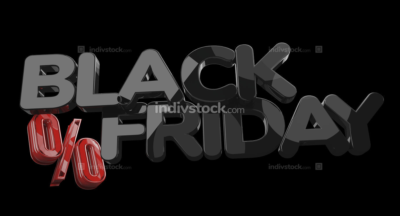 free download: black friday percentage 3d-illustration bold letters