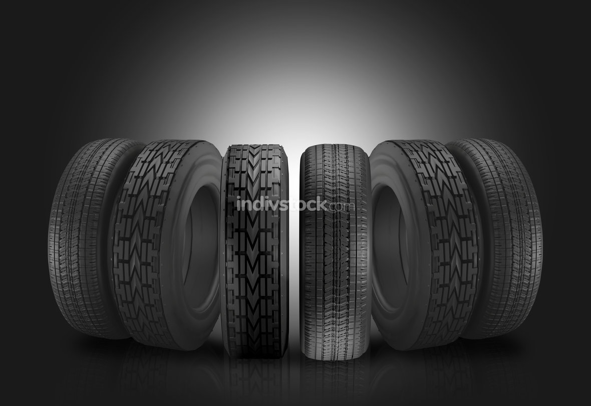 free download: car tires 3d illustration