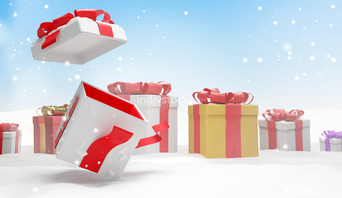 free download: christmas present 3d illustration