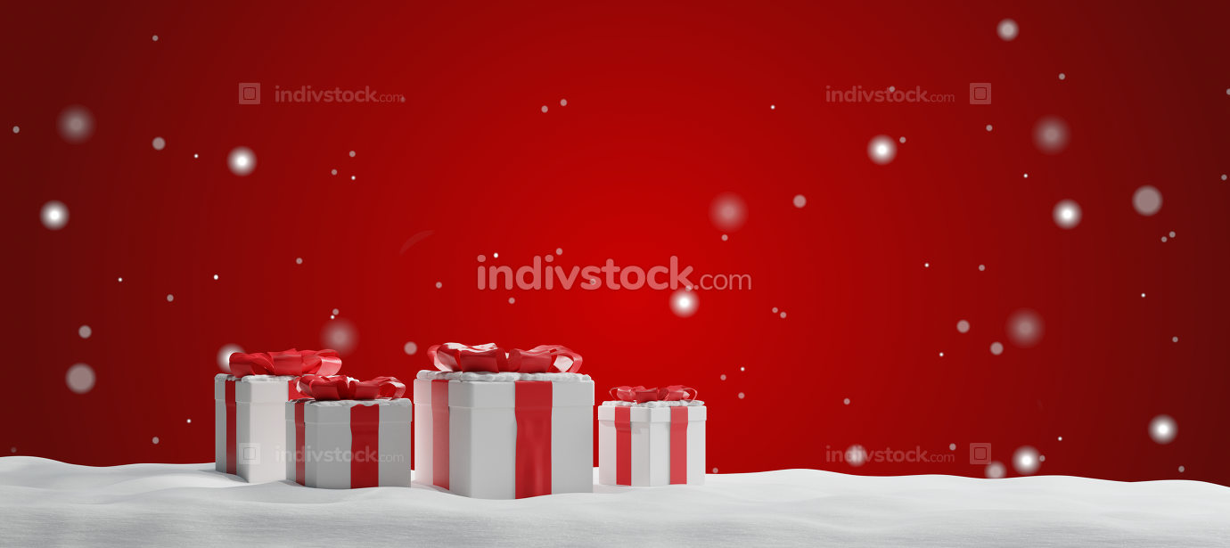 free download: christmas presents 3d-illustration