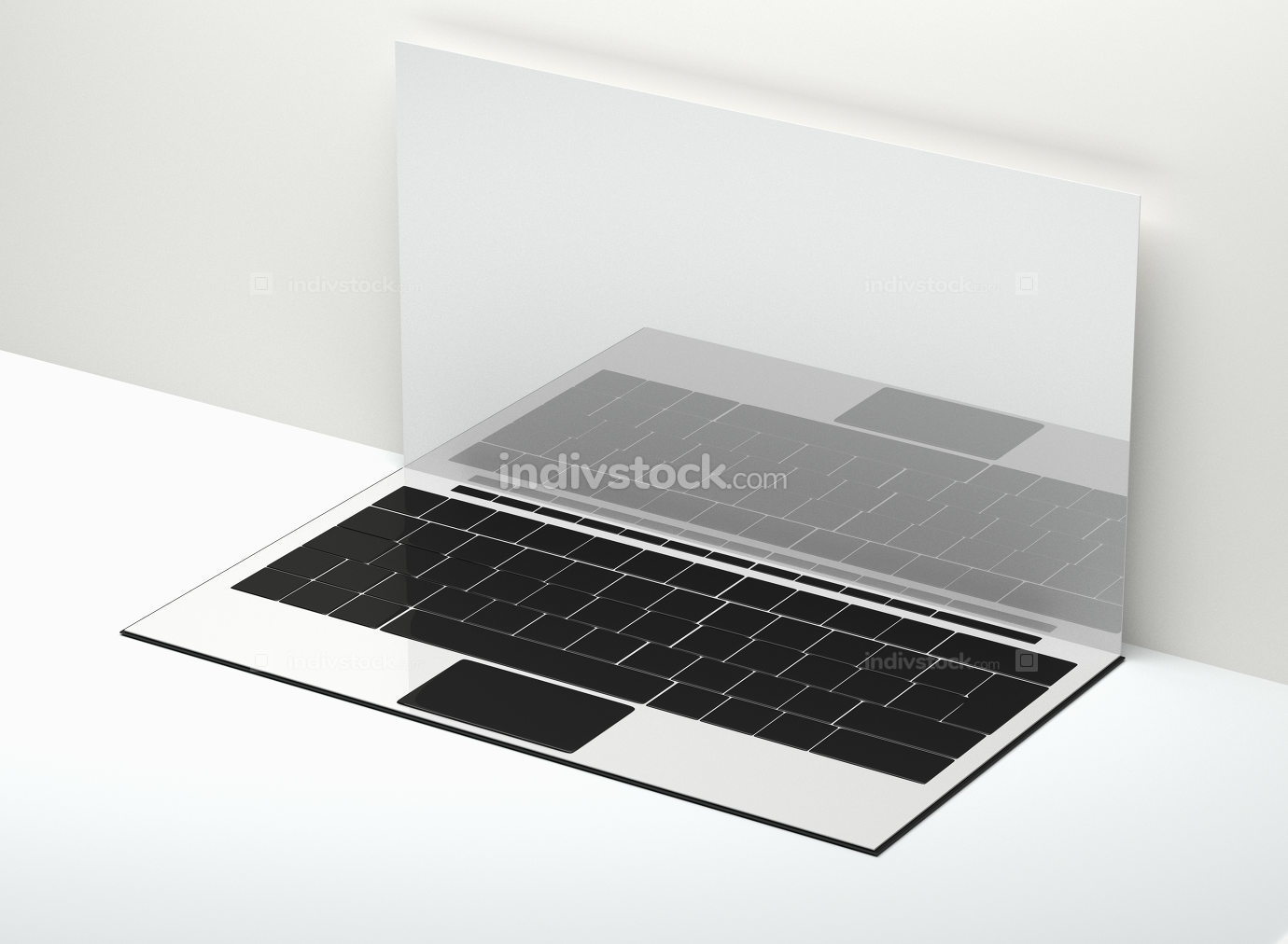 free download: computer notebook laptop blank screen 3d-illustration