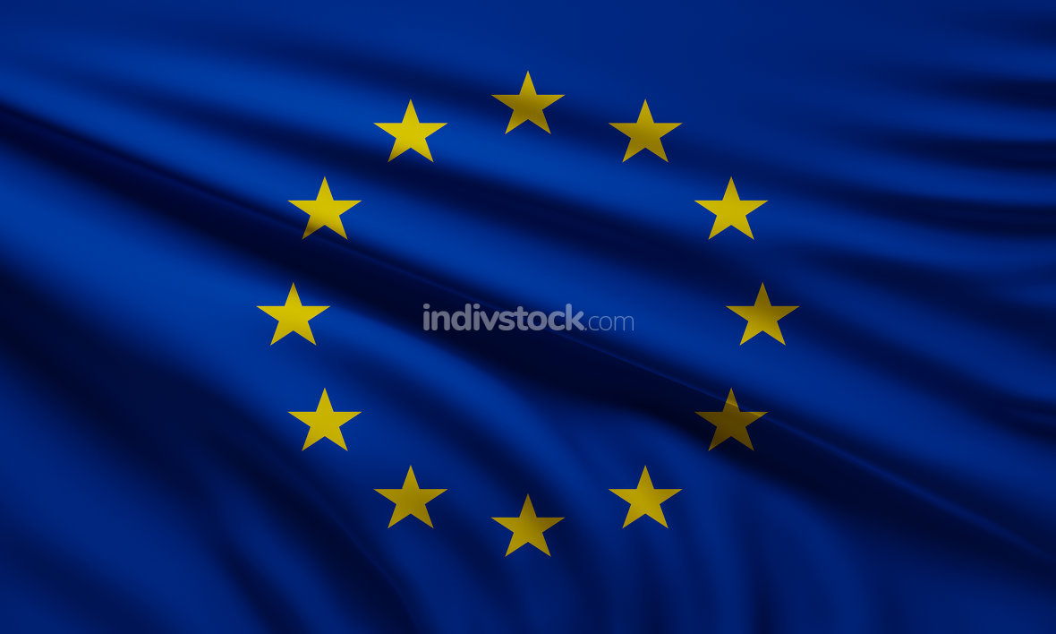 free download: flag of Europe background 3d-illustration