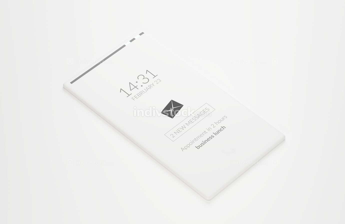 free download: full screen mobile phone white 3d-illustration
