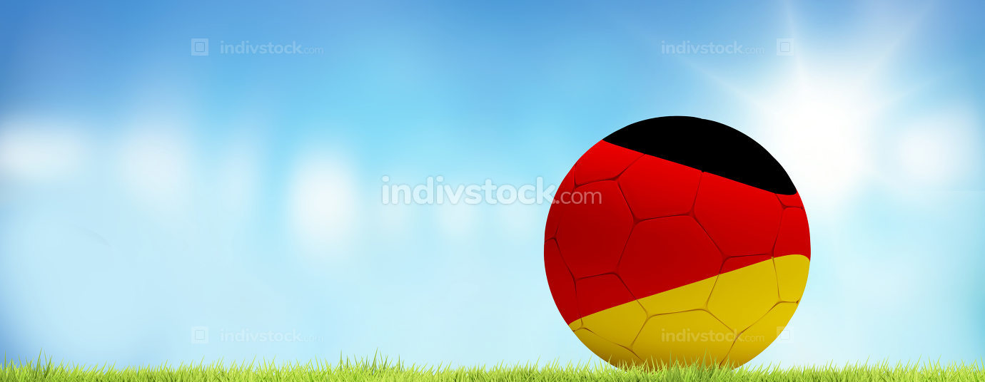 free download: Germany soccer football ball 3d rendering