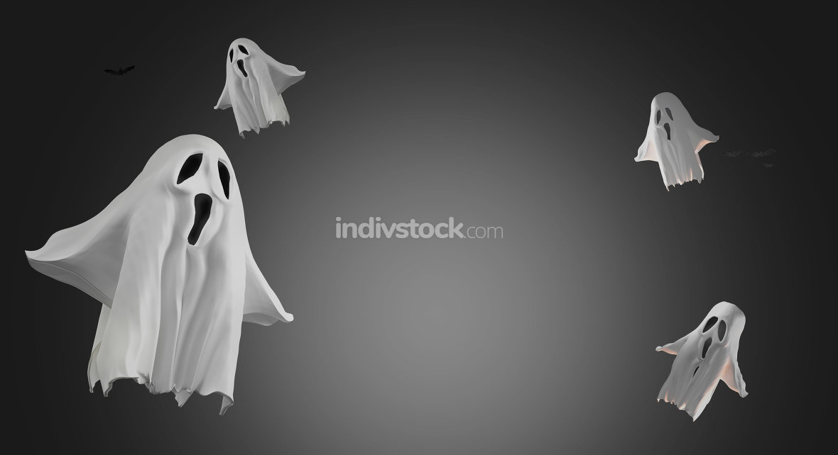free download: ghosts 3d rendering