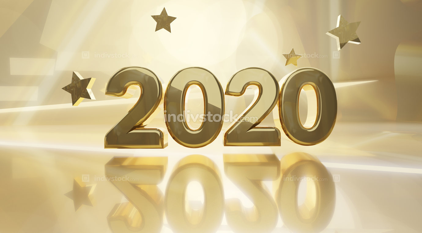 free download: golden design background 2020 3d-illustration