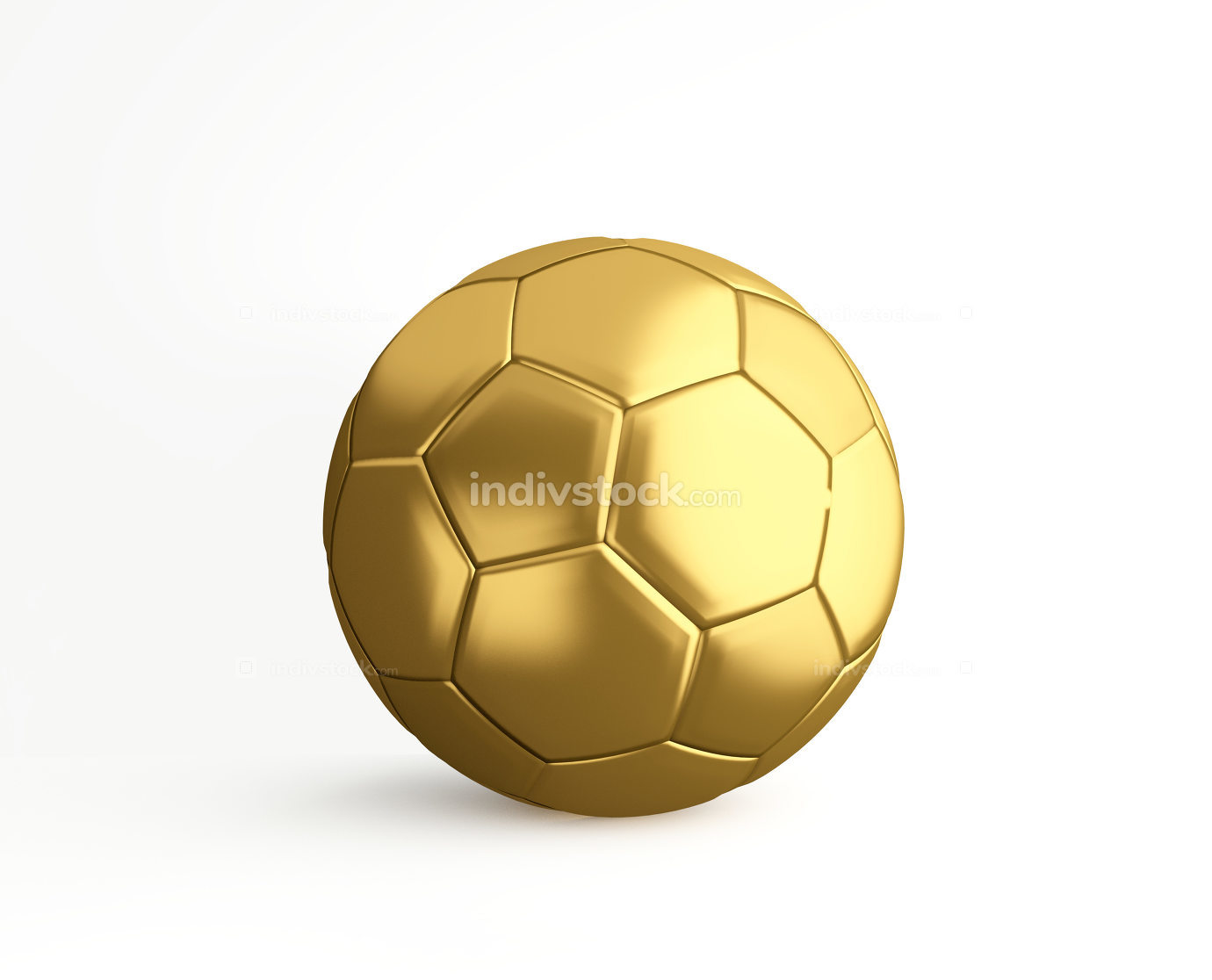 free download: golden soccer football 3d rendering