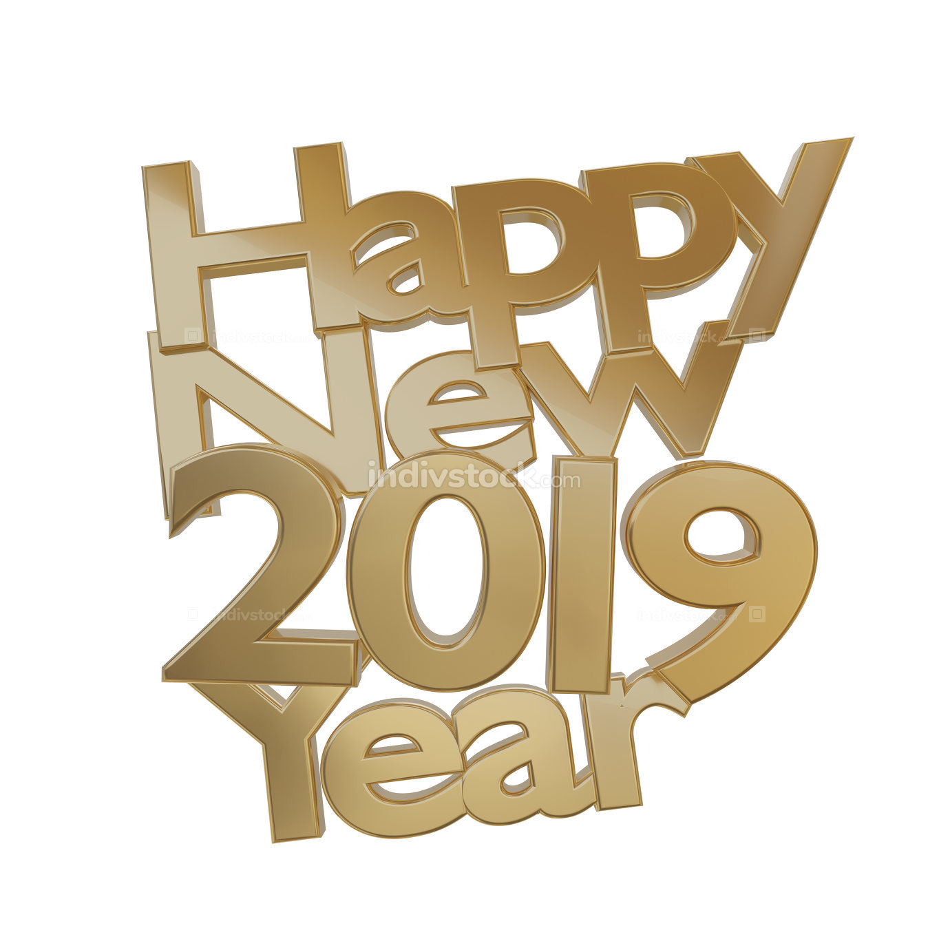free download: happy new year 2019 3d-illustration