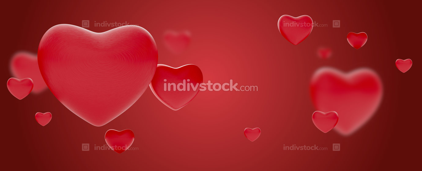 free download: hearts background love valentines or mothers day design 3d-illus