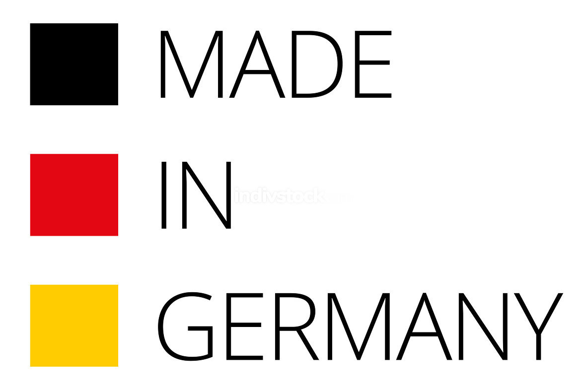 free download: Made in Germany flat black red yellow 3d-illustration symbol