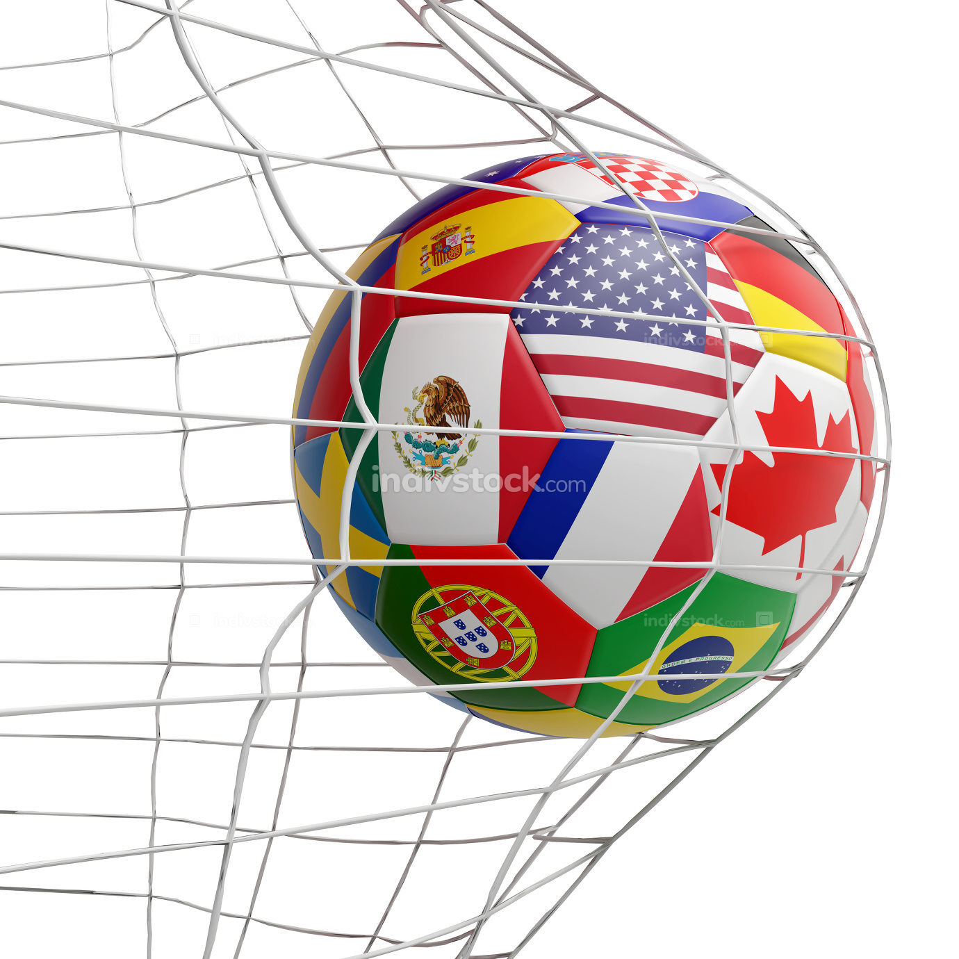 free download: Mexico America Canada flags ball 3d-illustration