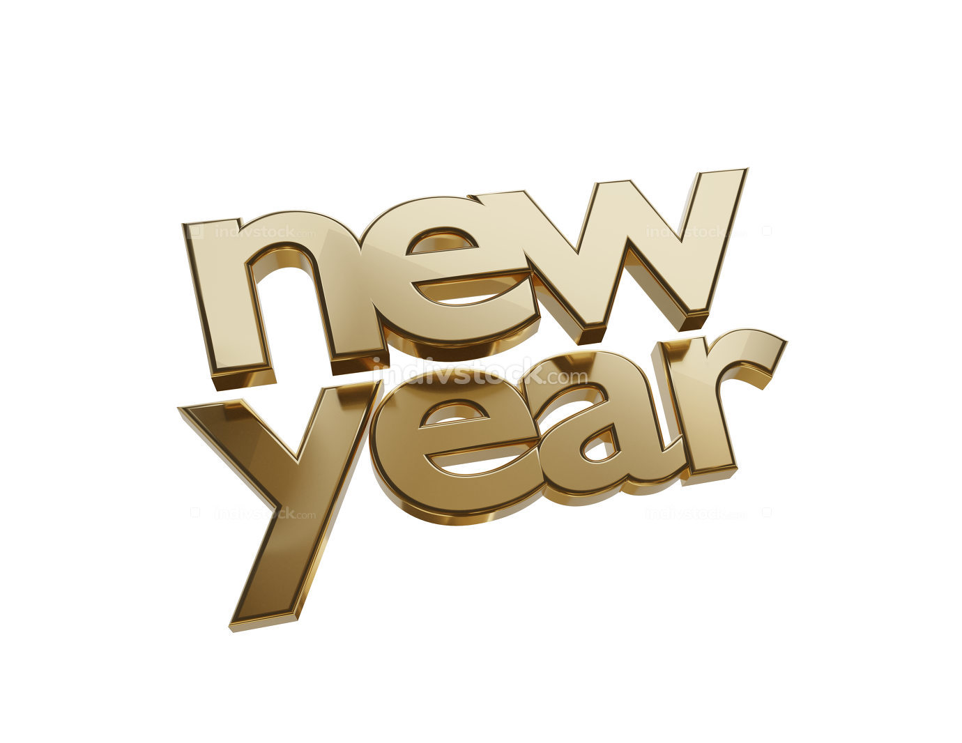 free download: new year symbol golden bold letters 3d-illustration