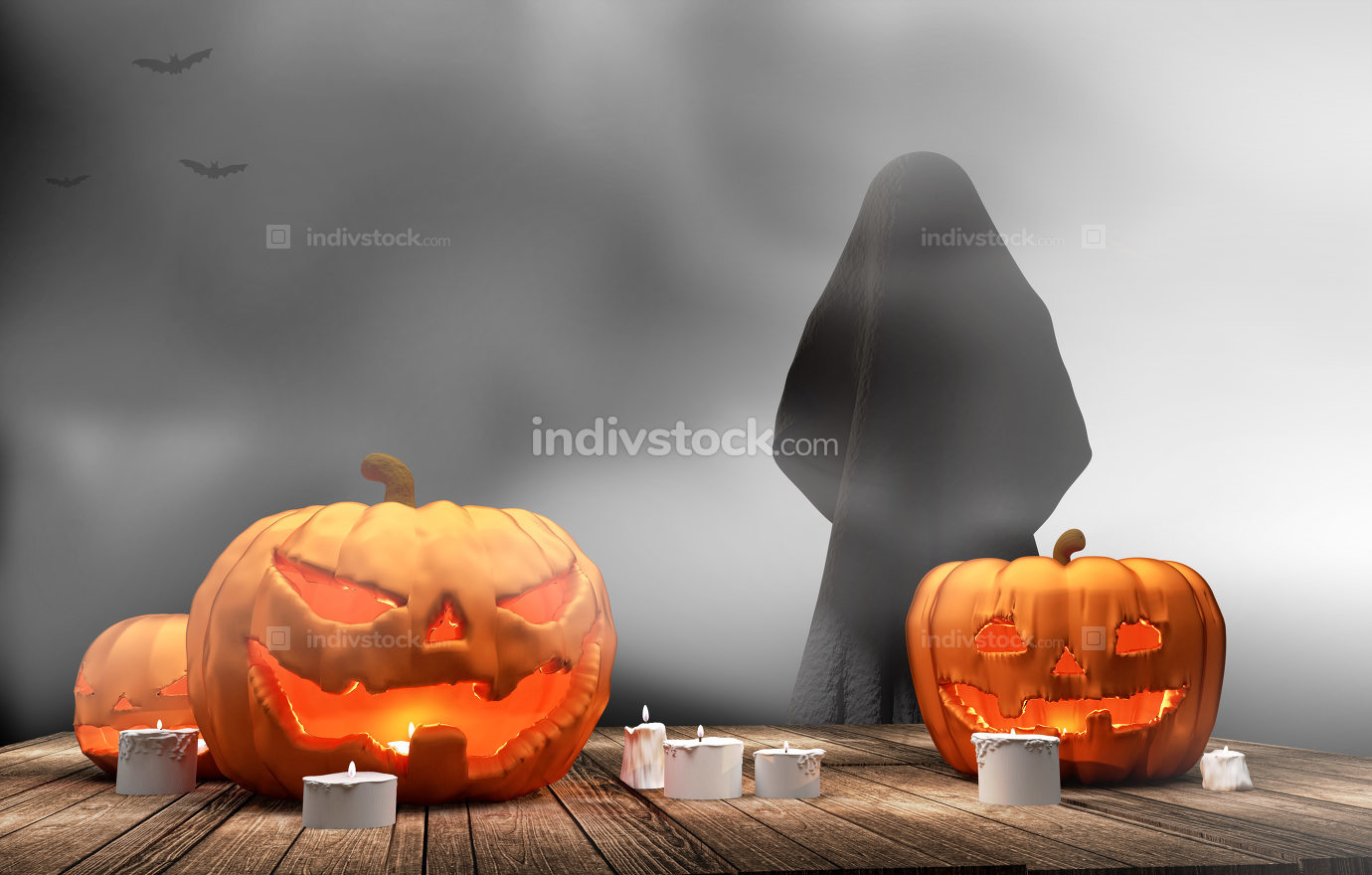 free download: pumpkins Halloween 3d rendering