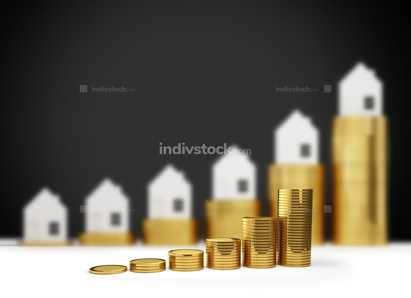 free download: rising house prices 3D illustration
