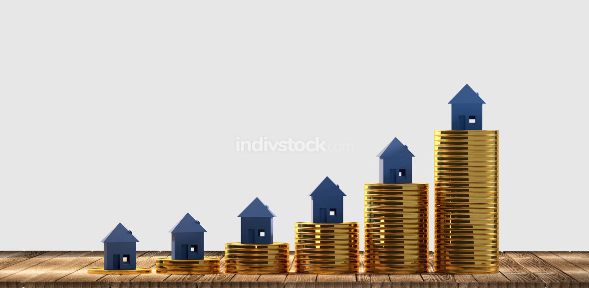 free download: rising house prices 3d-illustration