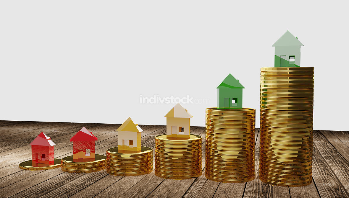 free download: rising house stacks 3d-illustration