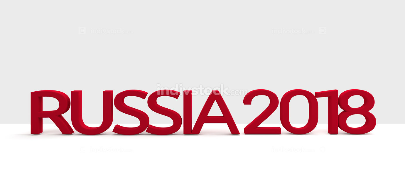 free download: Russia 2ß18 symbol 3d rendering