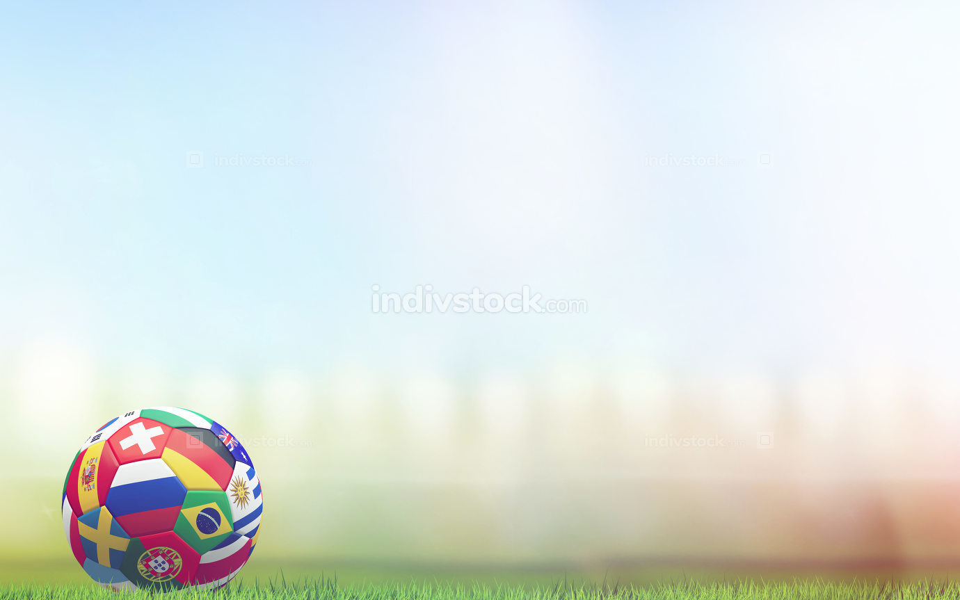 free download: soccer ball russia 3d rendering