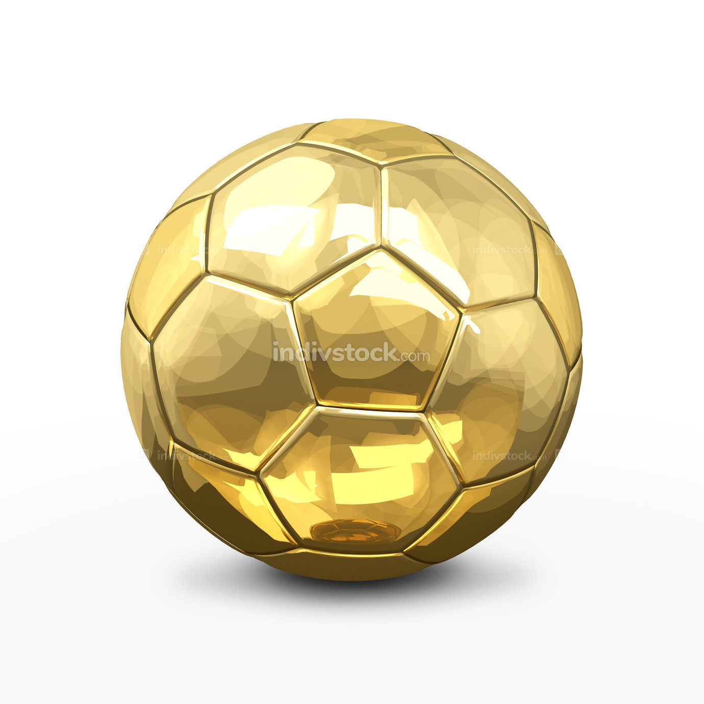 free download: soccer football ball 3d rendering in gold