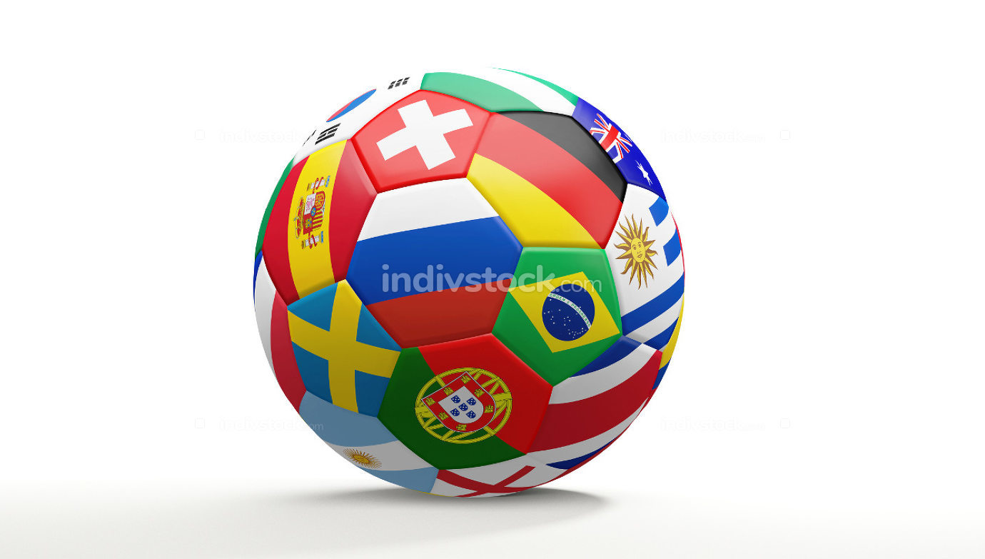 free download: soccer football ball with national flags 3d rendering