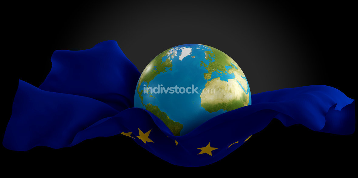 free download: stretched rescue jump sheet world planet earth with flag of Euro