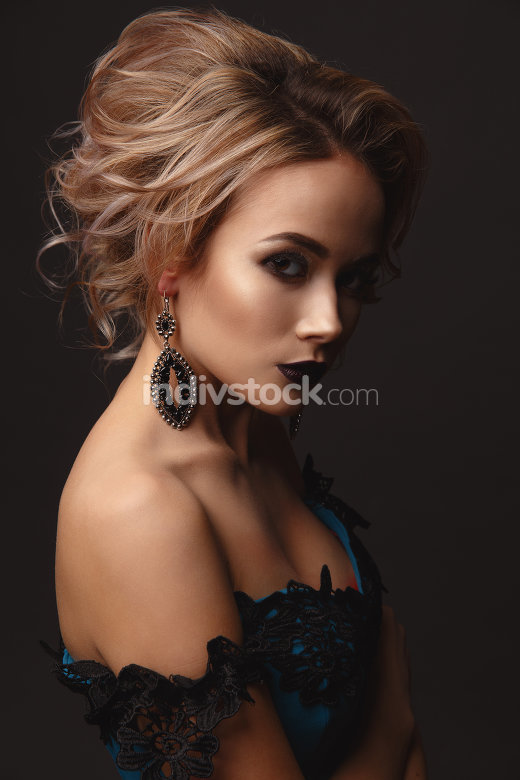 Gentle Portrait of beautiful sexy girl