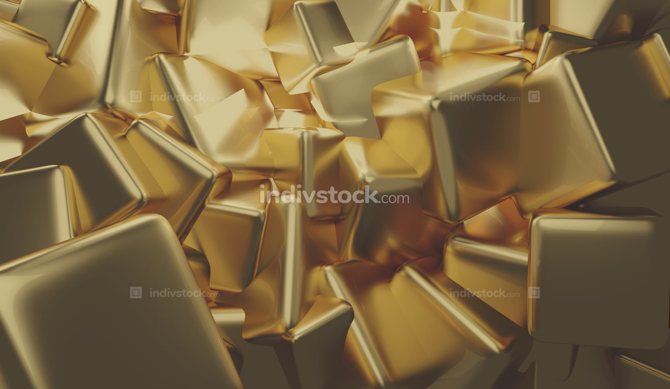 Gold 3d-illustration