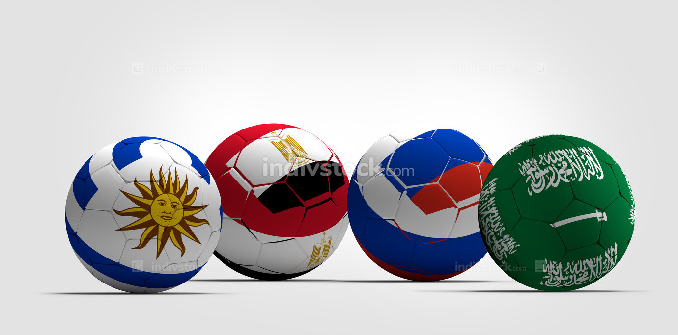 Group A Saudi Arabia Uruguay Egypt Russia soccer football balls