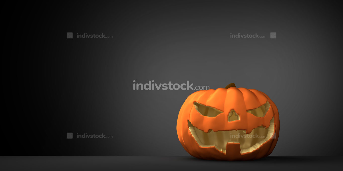 halloween pumpkin 3d rendering