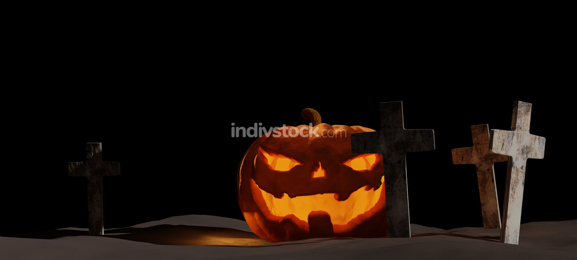 halloween pumpkin 3d-illustration