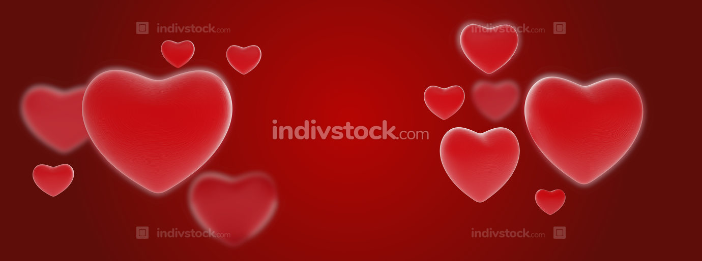 hearts background creative design 3d-illustration