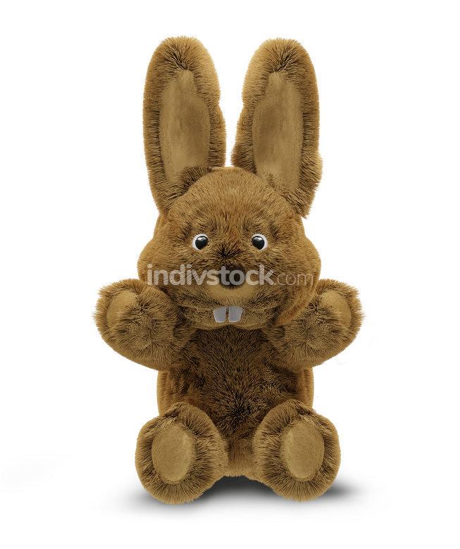 hug me hello easter bunny 3d rendering