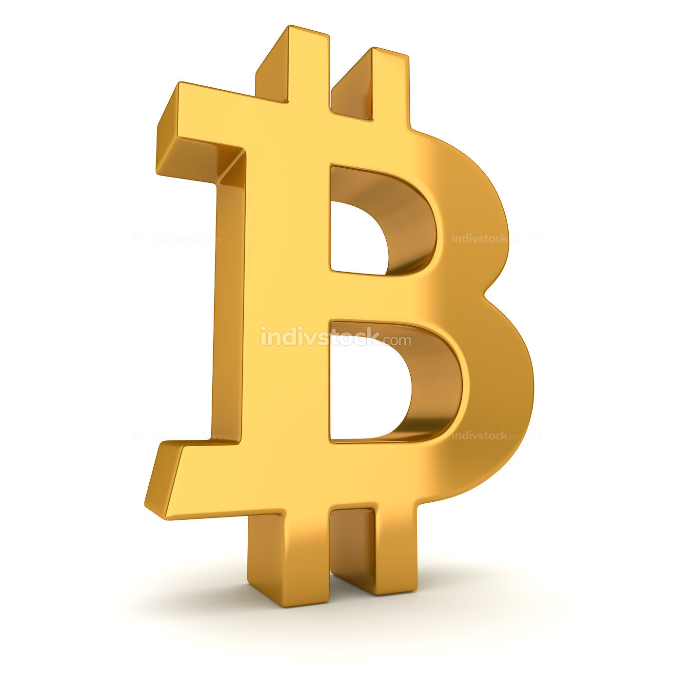 Isolated Bitcoin Symbol