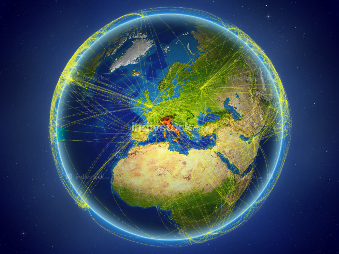 Italy on Earth with networks