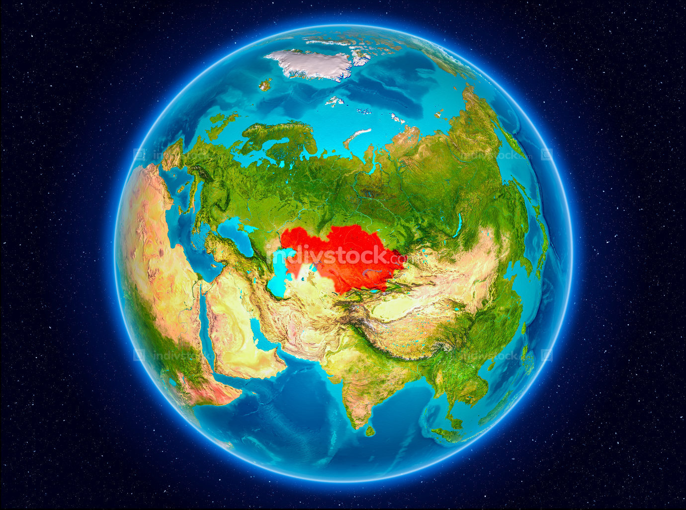 Kazakhstan on Earth