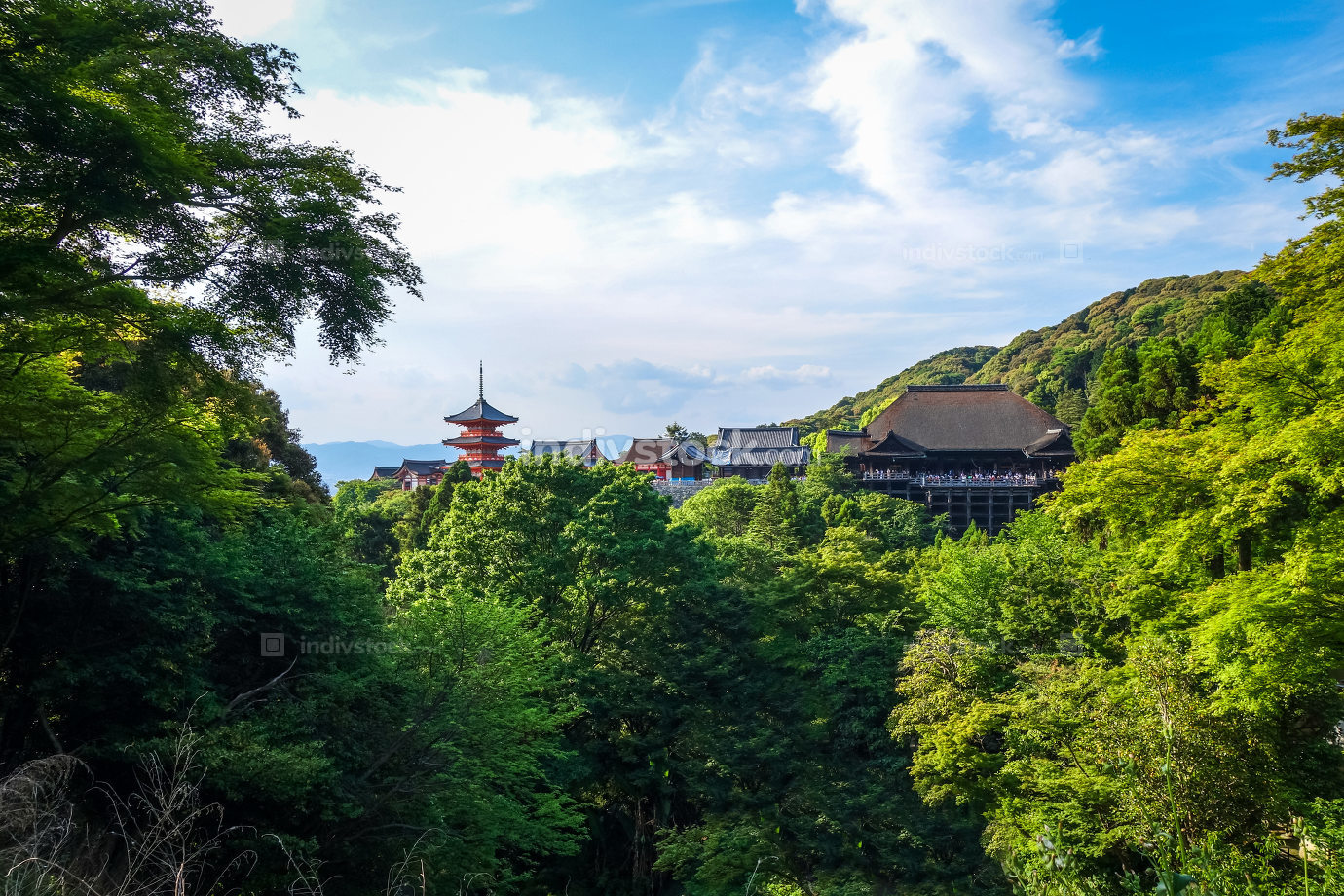 kiyomizu-dera temple and pagoda, Kyoto, Japan