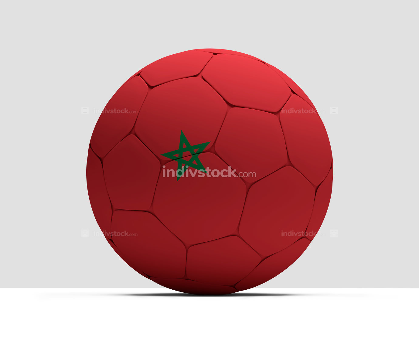 Morocco Arabic soccer football ball 3D Rendering