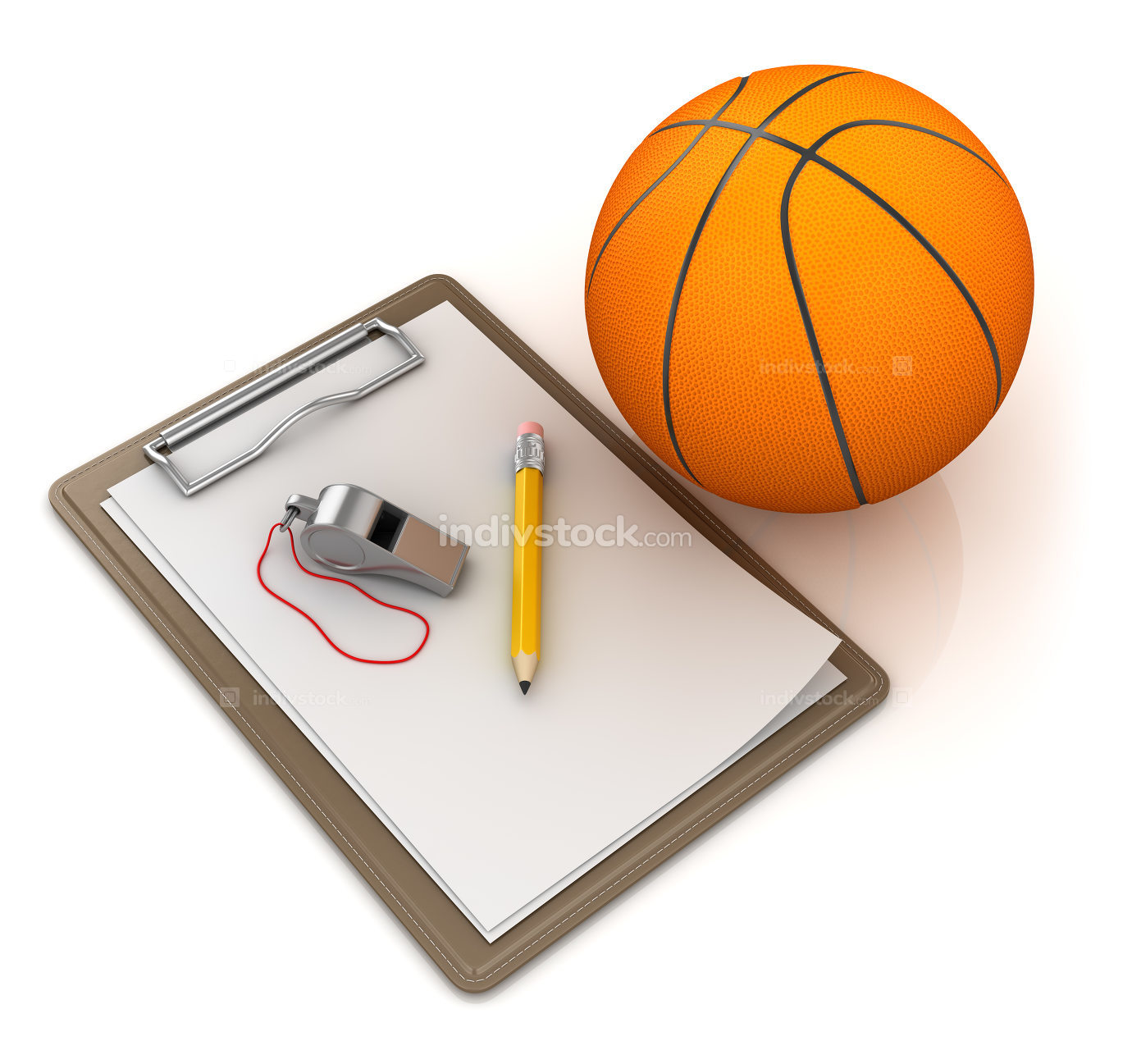 Notepad with Basketball
