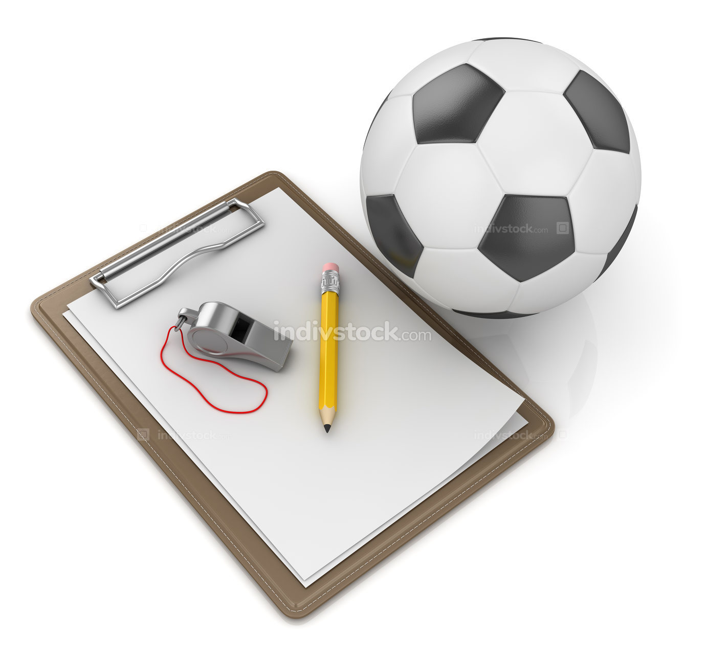 Notepad with Soccer Ball