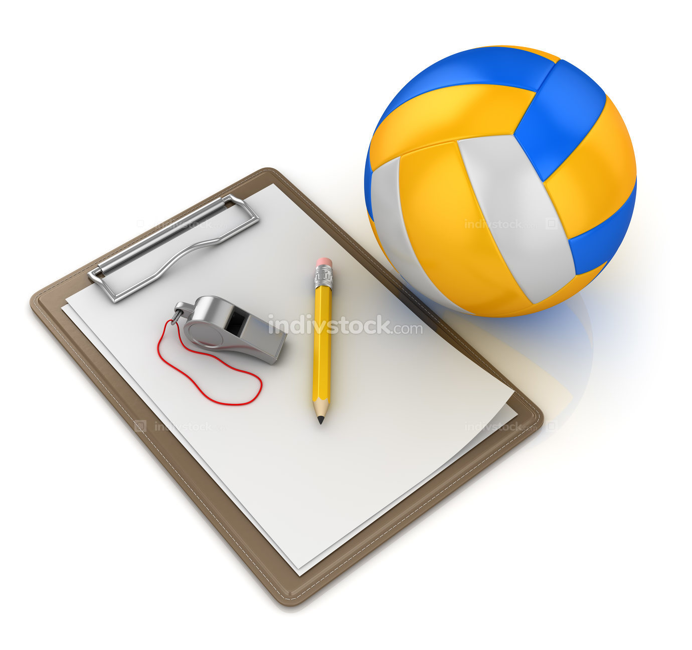 Notepad with Volleyball