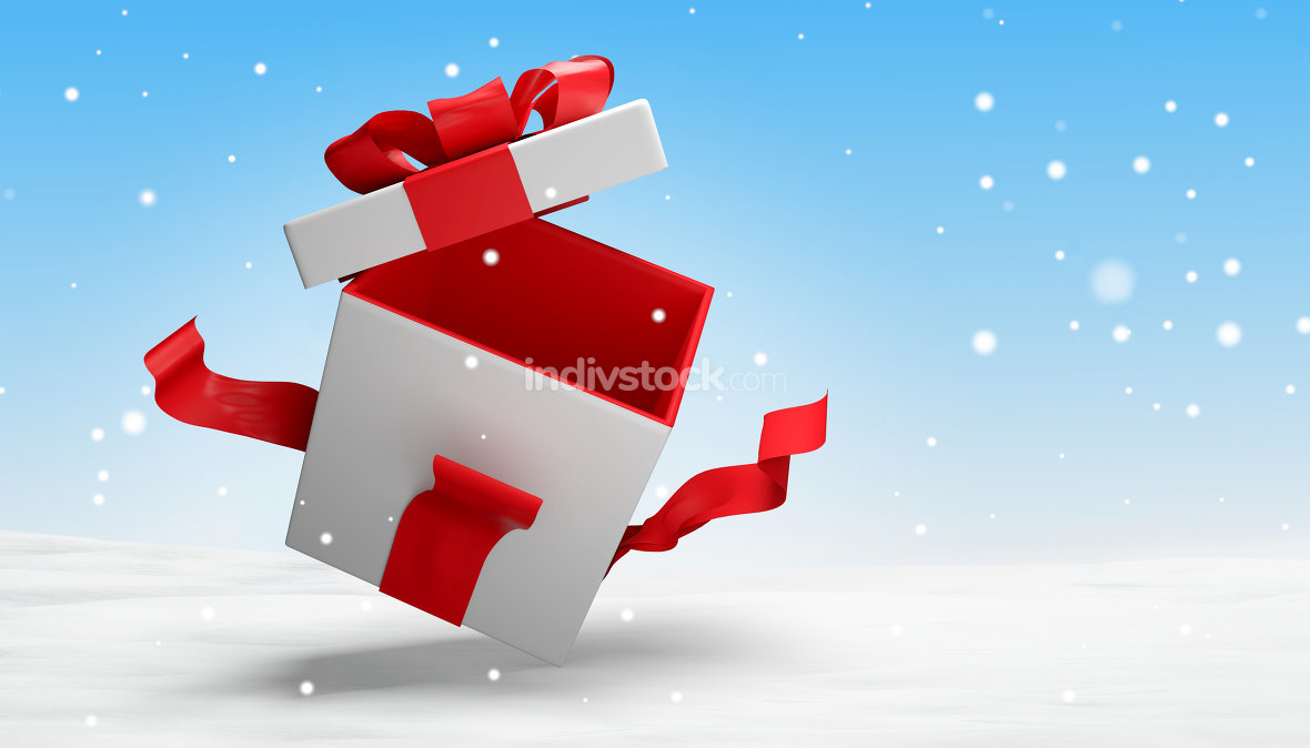 open present 3d illustration
