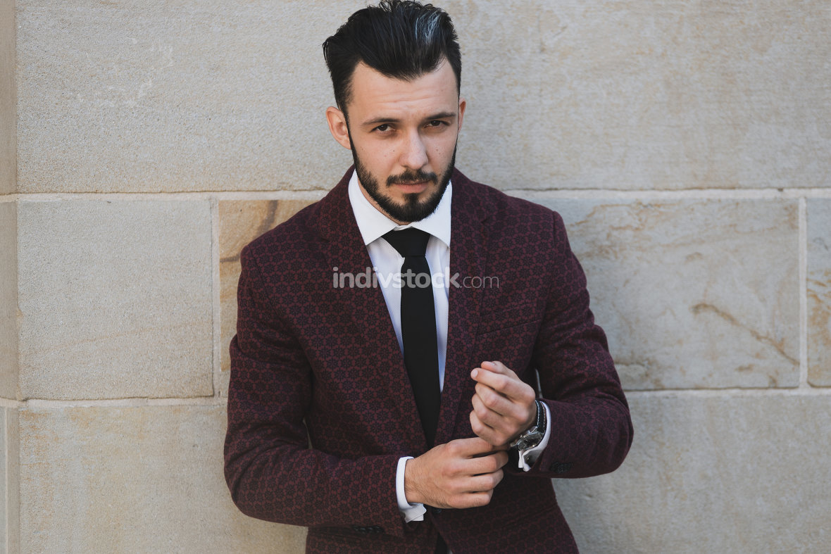 Portrait of fashionable man