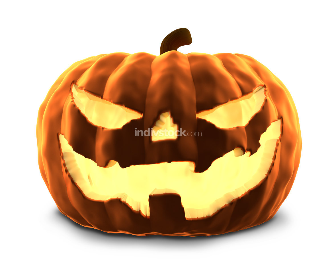 pumpkin 3d rendering isolated